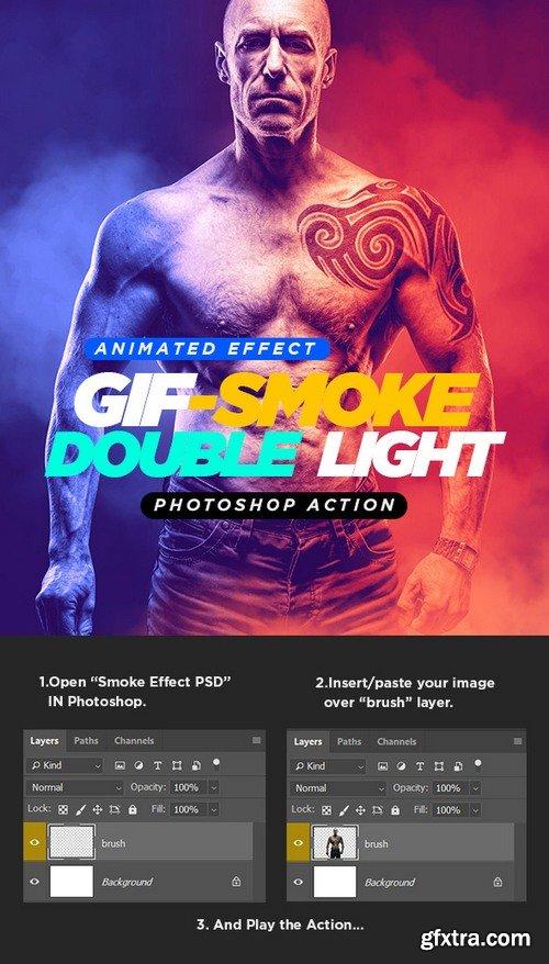 Graphicriver - 21838009 Gif Animated Smoke Double Lighting Photoshop Action