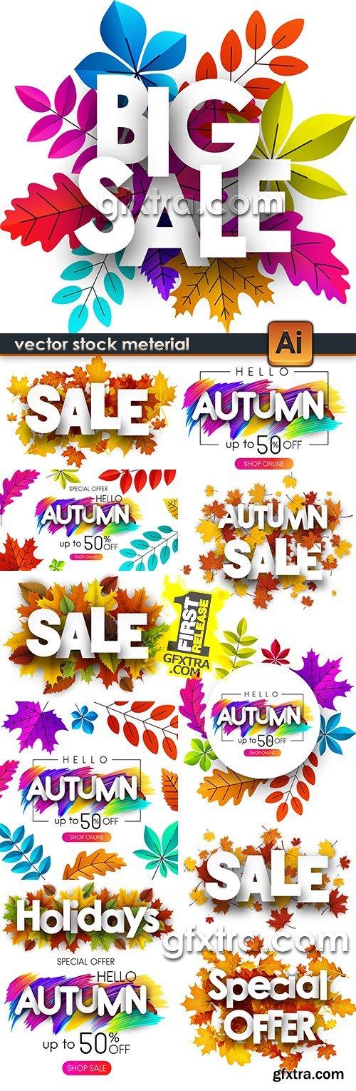 Autumn special offer discount sale design promo