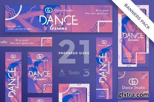 Dance Lessons Banner Social Media Pack Templates