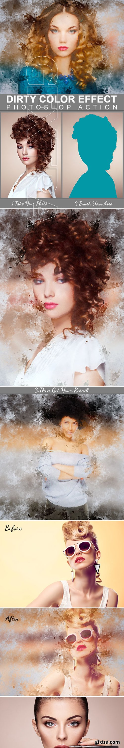 GraphicRiver - Dirty Color Effect Photoshop Action 22563994