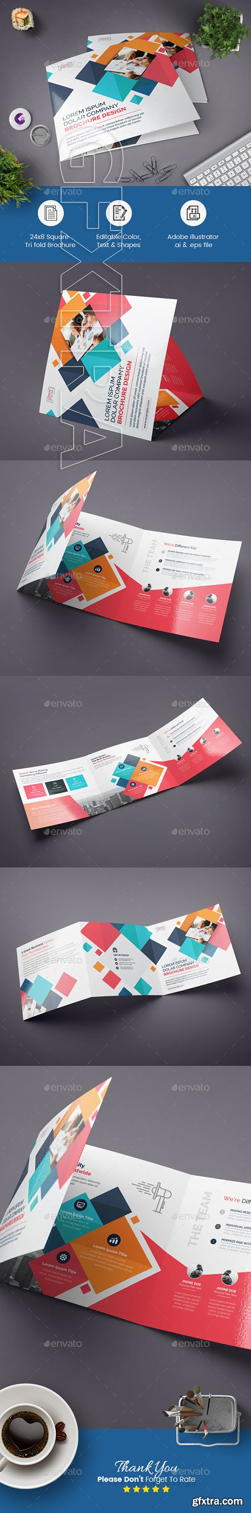 GraphicRiver - Square Tri-fold Brochure 22563131