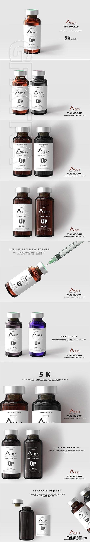 CreativeMarket - Amber Glass Vial Mockup 2945061