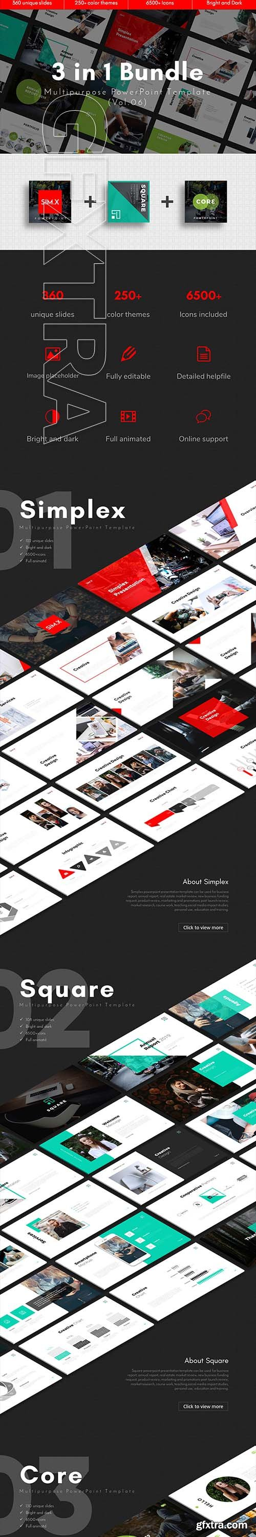 GraphicRiver - 3 in 1 Multipurpose PowerPoint Template Bundle (Vol.06) 22605293