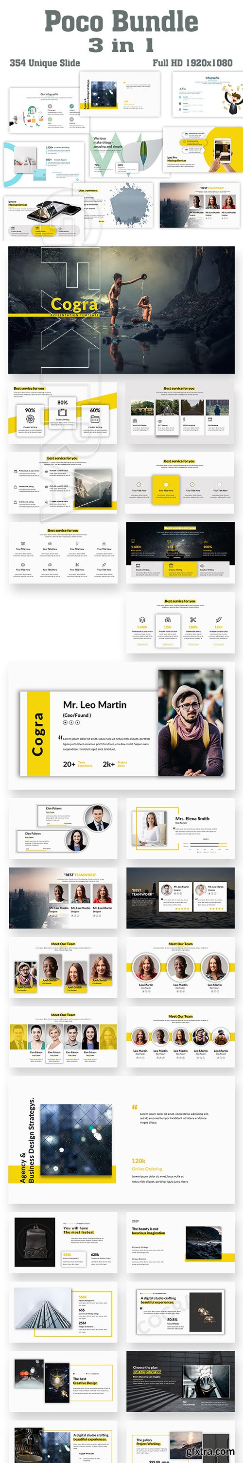 GraphicRiver - Poco Bundle 3 in 1 PowerPoint Template 22605805