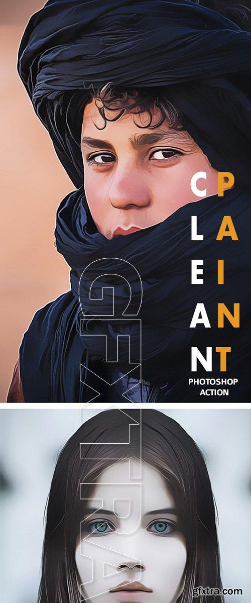 GraphicRiver - Clean Paint Photoshop Action 22577042