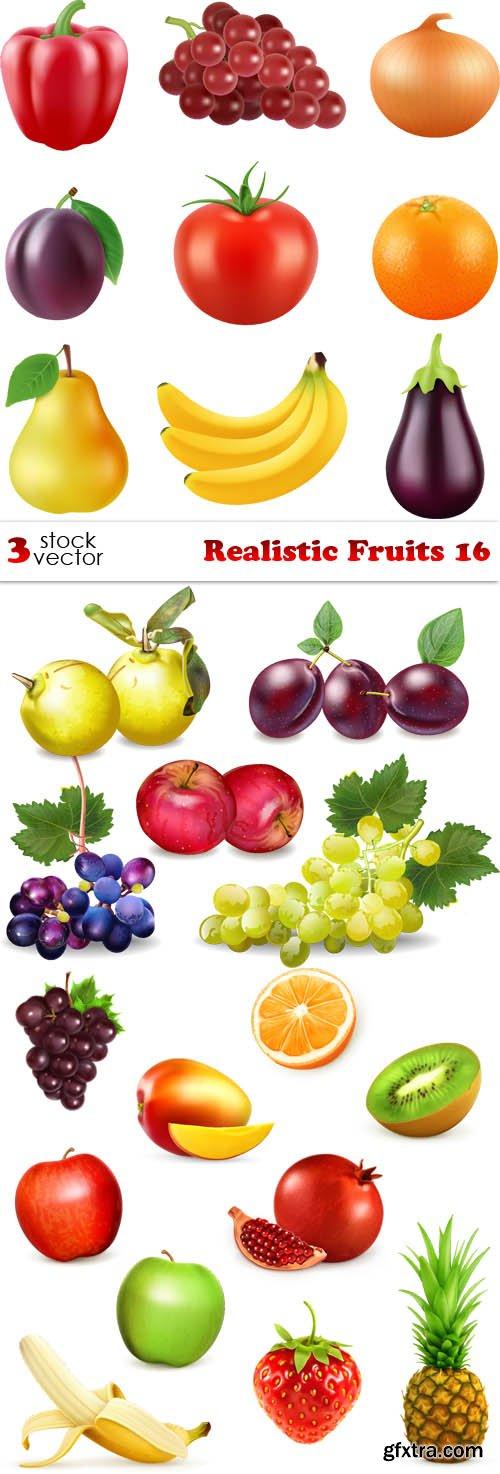 Vectors - Realistic Fruits 16