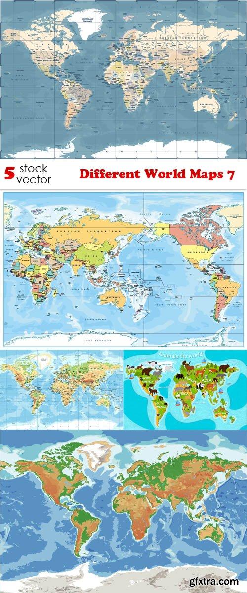 Vectors - Different World Maps 7