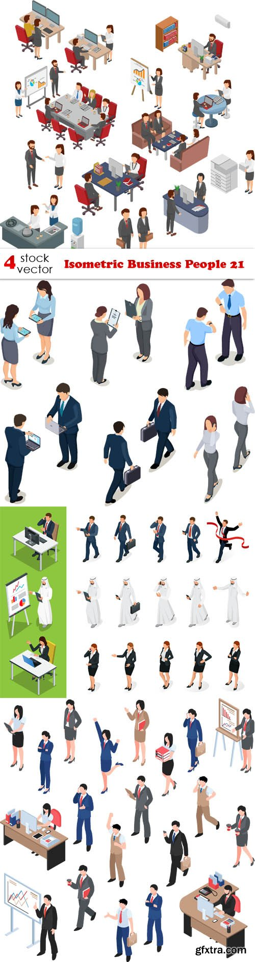 Vectors - Isometric Business People 21