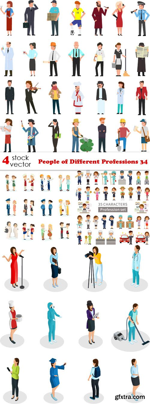 Vectors - People of Different Professions 34