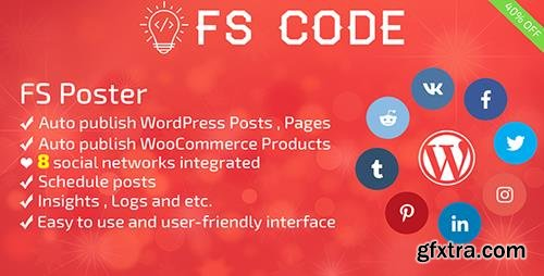 CodeCanyon - FS Poster v1.9.14 - WordPress auto poster & scheduler - 22192139 - NULLED