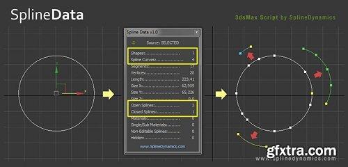 Spline Data v1.01 for 3ds Max 2012 - 2019