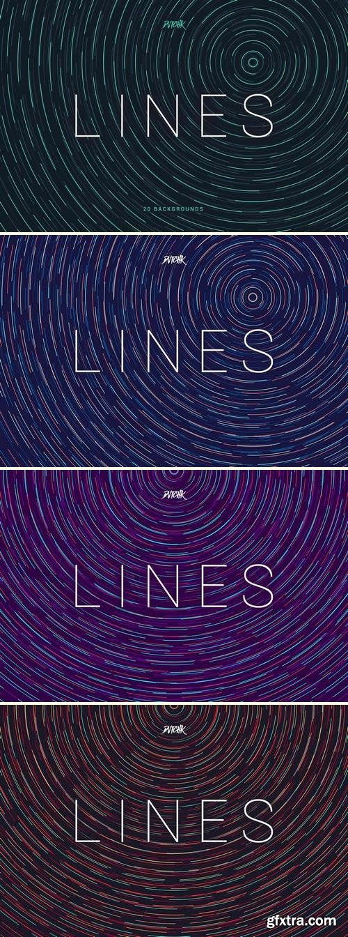 Lines   Abstract Colorful Twirl Backgrounds