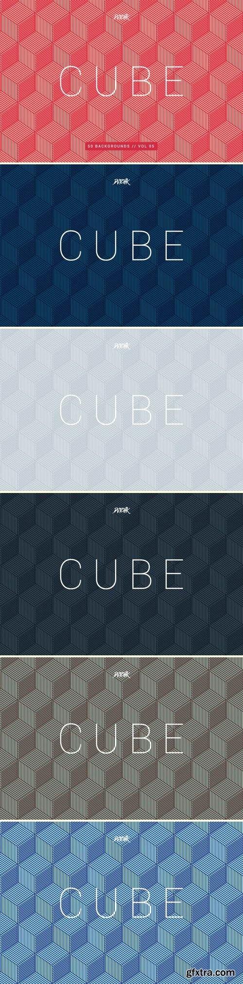 Cube  Seamless Geometric Backgrounds   Vol. 05
