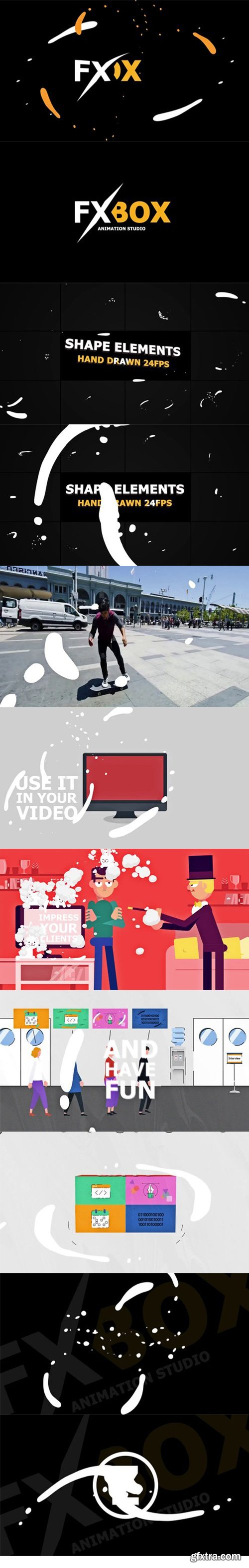 Videohive - Shape Elements Pack - 22174692