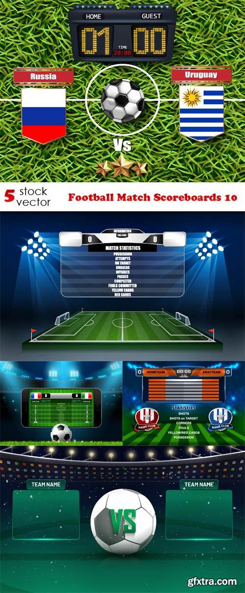Vectors - Football Match Scoreboards 10