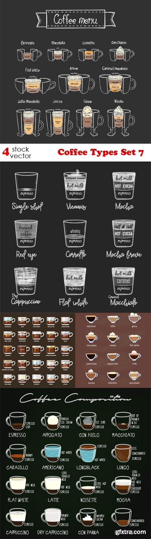 Vectors - Coffee Types Set 7