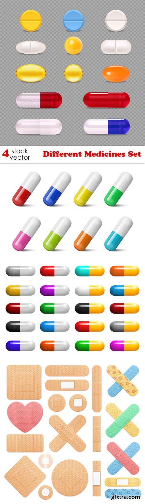 Vectors - Different Medicines Set