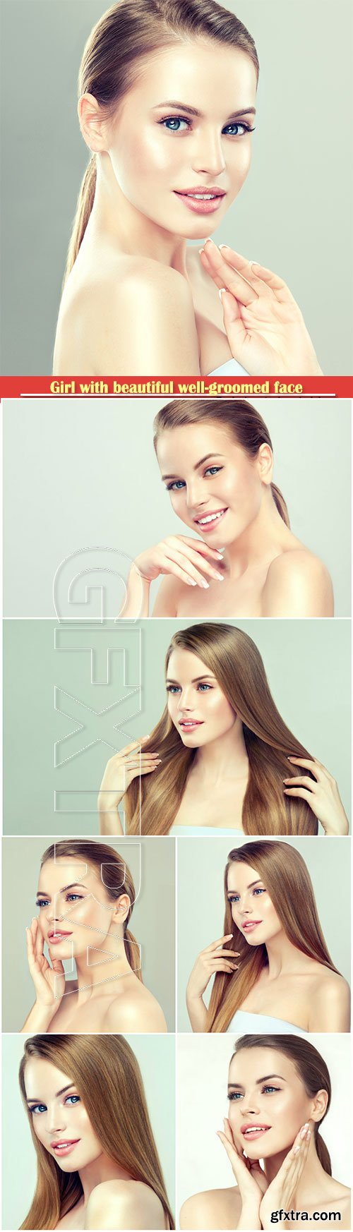 Girl with beautiful well-groomed face