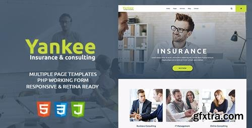 ThemeForest - Yankee v1.1 - Insurance & Consulting HTML Template - 20433345
