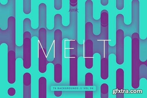 Melt  Abstract Rounded Backgrounds  Vol 06