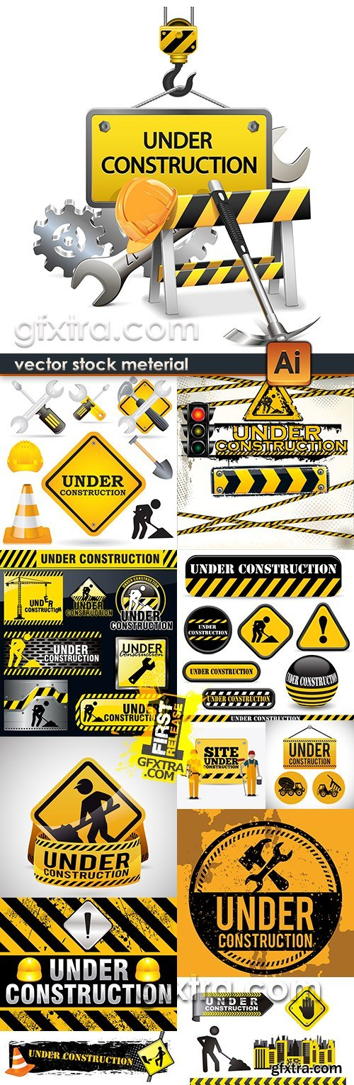 Under construction professional design big collection