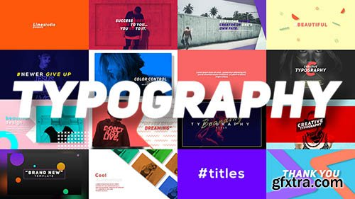 Typography - Premiere Pro Templates 125784
