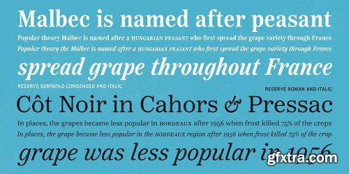 Reserve Font Family - 25 Fonts