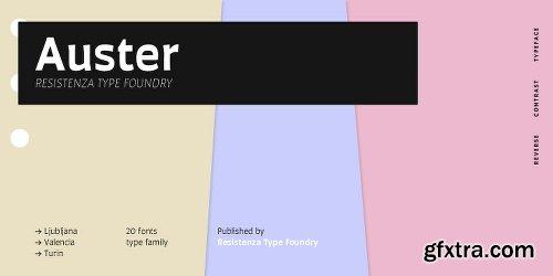 Auster Font Family - 20 Fonts
