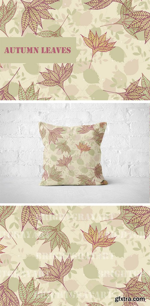 CM - Autumn Leaves Seamless Pattern 2963978