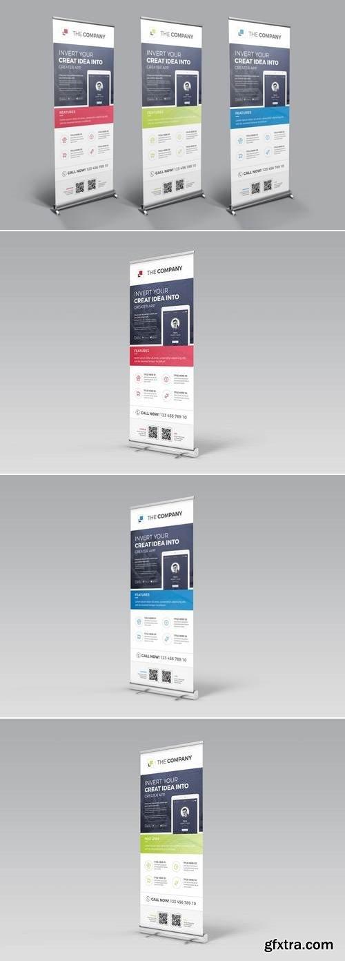Mobile App Promotional Roll-up Banner