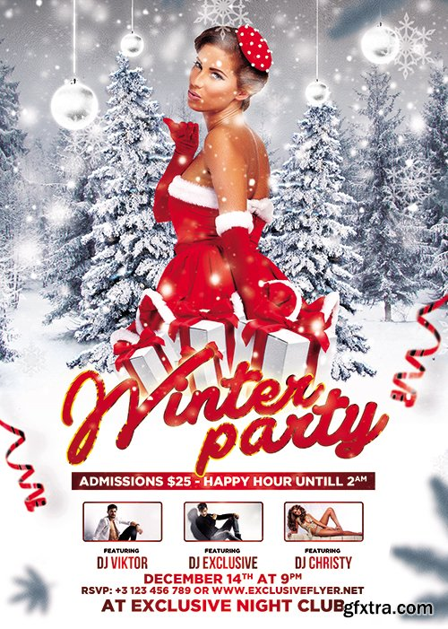 Winter Party - Seasonal A5 Flyer Template
