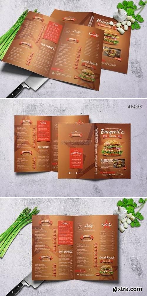 American Burgers A4 Menu