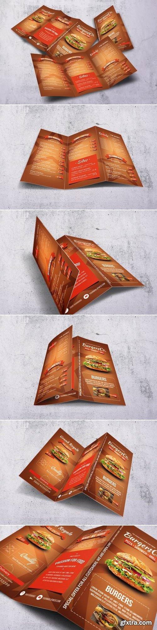 American Burgers A4 Trifold Menu