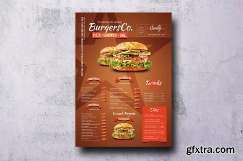 American Burgers A3 Poster Menu