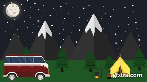 How To Create A Flat Design Night Camping in Affinity Designer