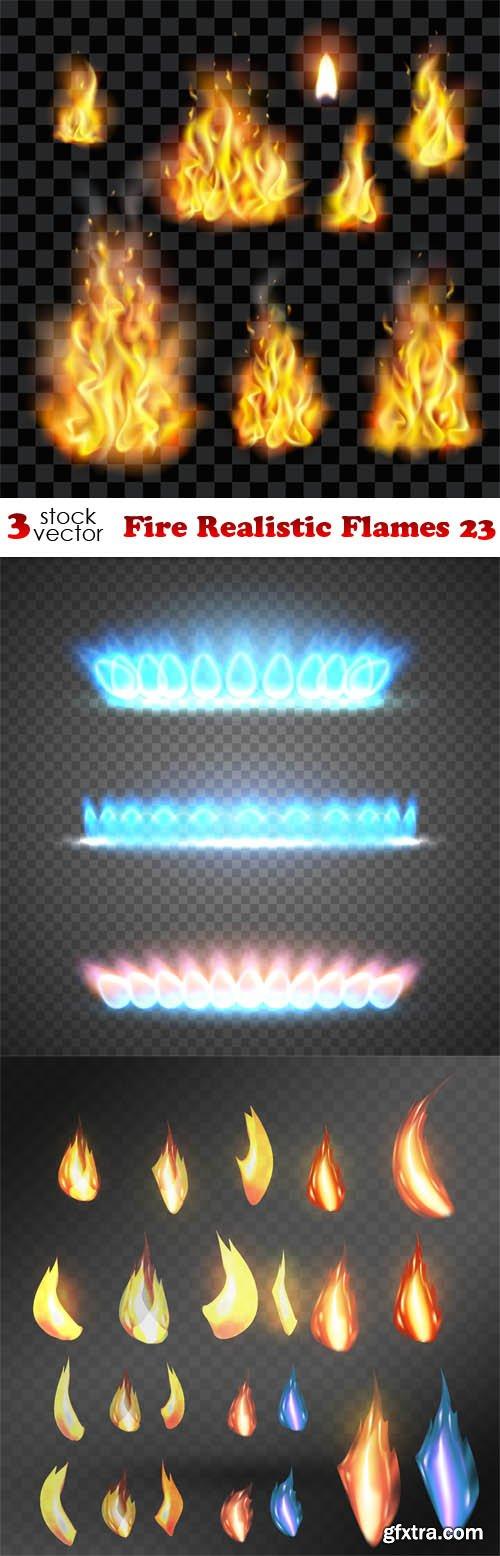Vectors - Fire Realistic Flames 23