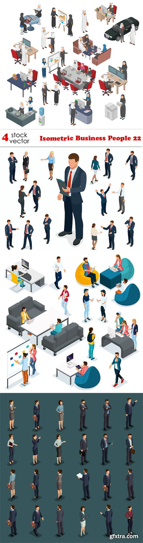 Vectors - Isometric Business People 22