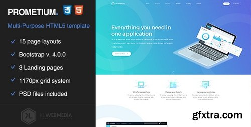ThemeForest - Prometium - Multi-Purpose HTML5 Template 21118380