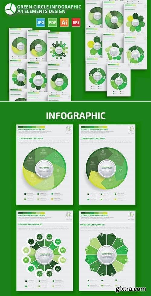 Green Circle Infographic Design