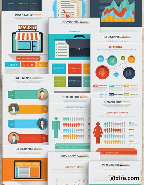 Business Infographics Design 17 Pages 2