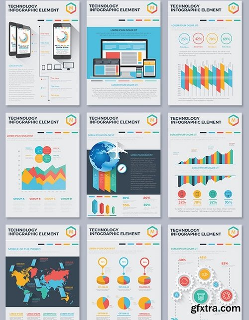 17 Pages Element of Infographic Design