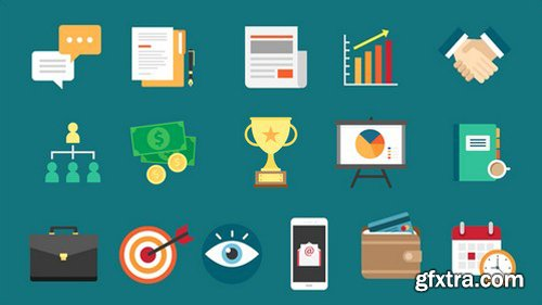 Graphicriver - 16 Business Icons 22198284
