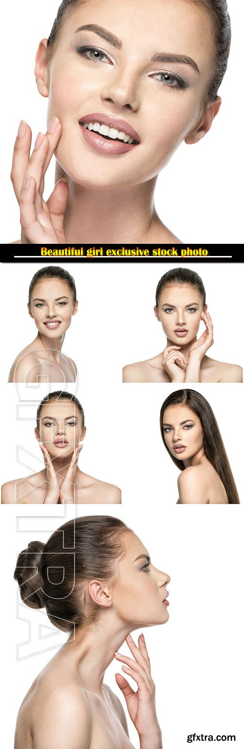 Beautiful woman for the skin face