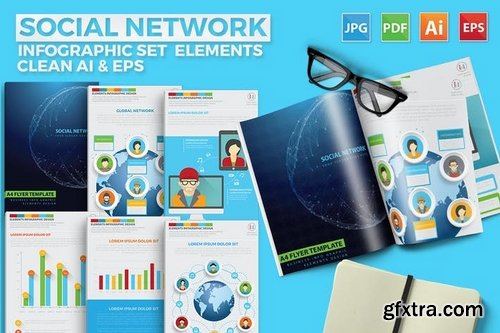 Social Network Infographics Design