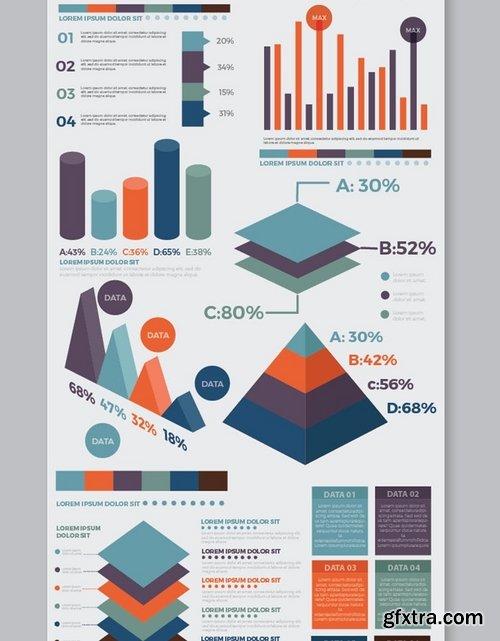 Infographic flat elements design