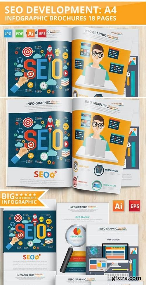 SEO Development Infographic Design 18 Pages