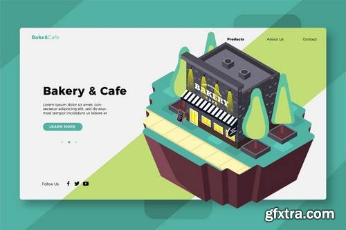 Bakery & Cafe - Banner & Landing Page