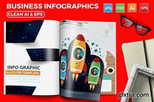 Modern Business Infographics 17 Pages Design