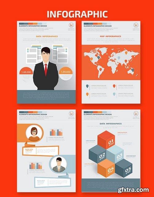 Business Infographics A4 Template Design