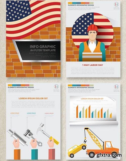 Labor Day Infographics Design